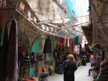Hebron provides one of the most visual examples of Israeli occupation. The city is inhabited by 160,000 Palestinians and 500 Israeli settlers.